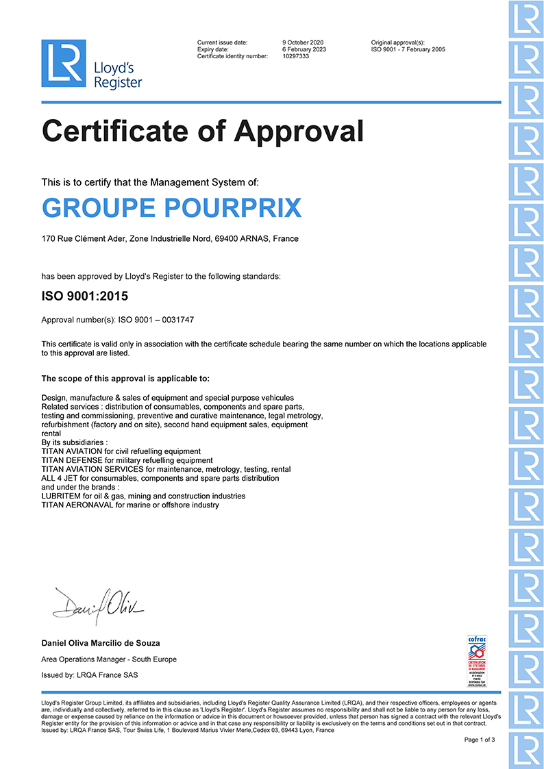 ISO CERTIFCATION GPX